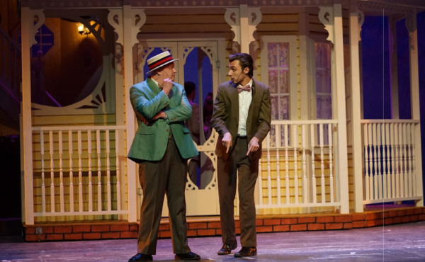 Cordell Smith plays Warren Sheffield and Crosby Slupe plays Lon Smith in Meet Me in St. Louis at the Croswell.
