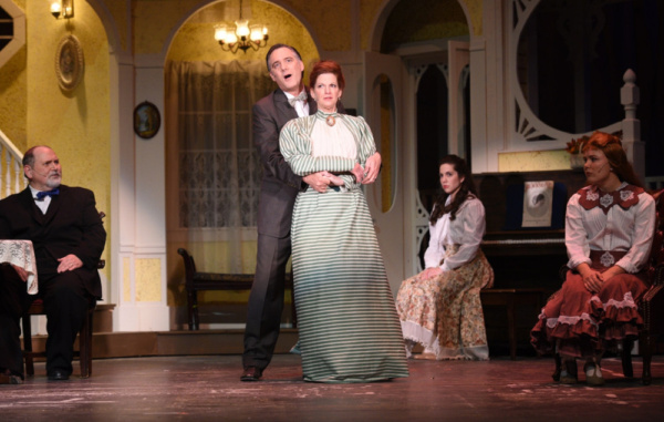 Karl Kasischke plays Alonso Smith and Alisa Mutchler Bauer plays Anna Smith in Meet Me in St. Louis at the Croswell Opera House.