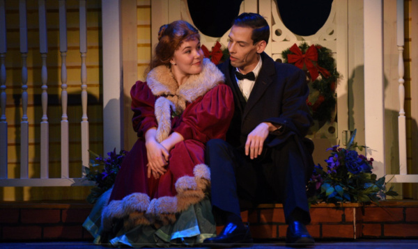 Sarah Hodgman plays Esther and Justin Bays plays John Truitt in Meet Me in St. Louis at the Croswell.