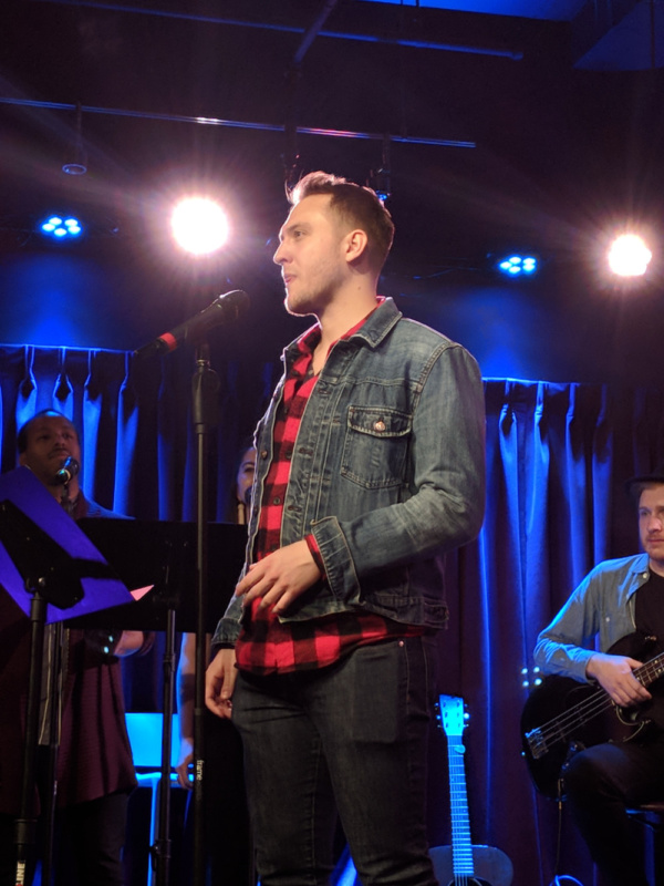 Nick Rehberger performed at Green Room 42 Showcase of Patrick Dillon Curry's music from WATER, a new musical.  Dec. 4, 2017