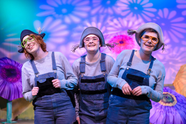 left to right: Sarah Luckadoo, Lauren Alberg, and Liliana Evans are Lemurs. Photo courtesy of Bruce F Press Photography