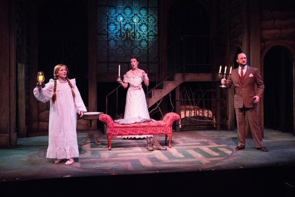(L to R) Katie Maupin as Mary Lennox, Sharon Rietkerk as Lily, and Brian Watson as Archibald Craven