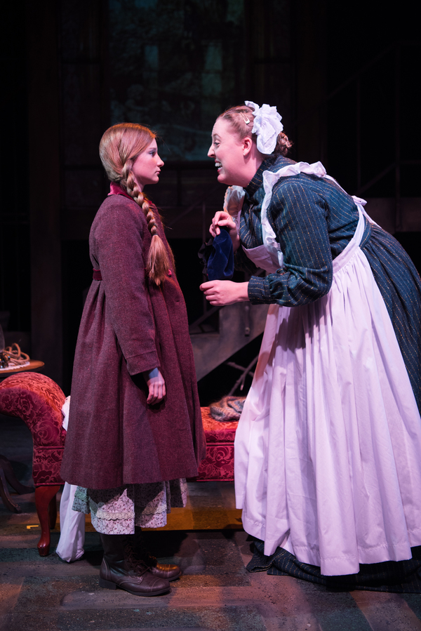 (L to R) Katie Maupin as Mary Lennox and Heather Orth as Martha