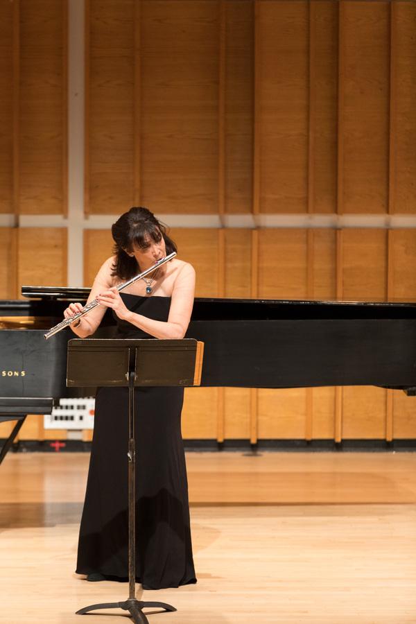 Elizabeth Mann, principal flutist for the Orchestra of St. Luke's