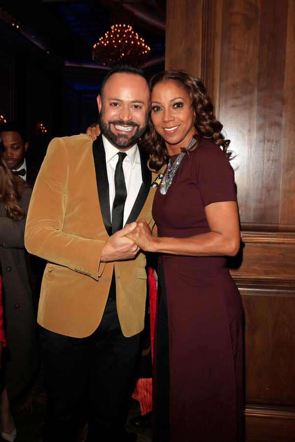 Nick Verreos and Holly Robinson Peete