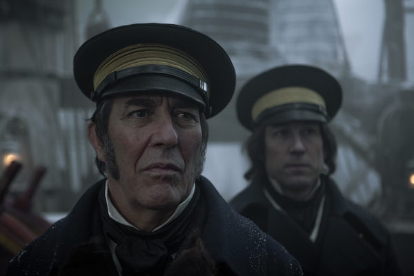 Ciarán Hinds as John Franklin, Tobias Menzies as James Fitzjames - The Terror  Photo