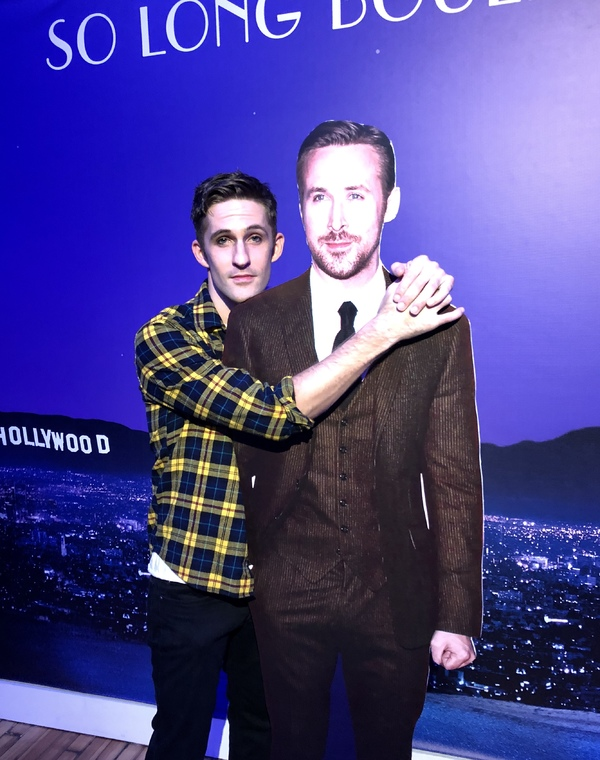 Co-writer and star Jimmy Fowlie with 'Ryan Gosling'