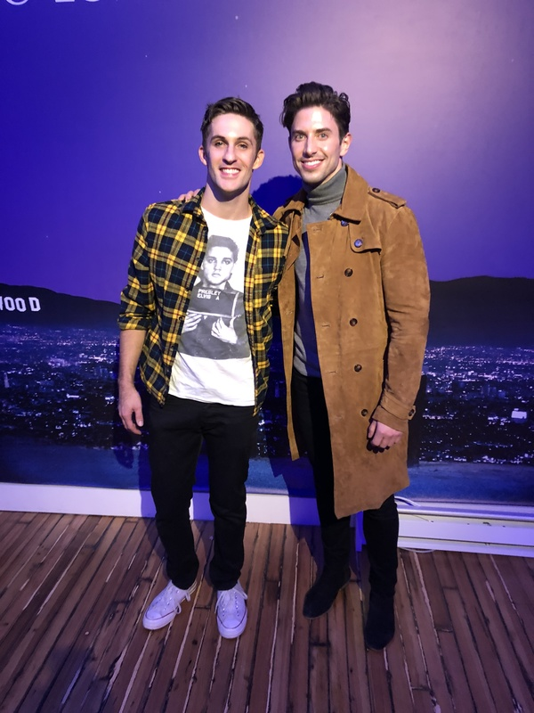 Co-writer and star Jimmy Fowlie with Nick Adams
