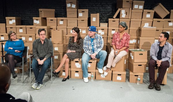 Opening Night post-show talk-back with Amy Gottlieb (Program Director of the American Friends Service Committee Immigrant Rights Program and Houses on the Moon Board Member, writer and director Jeffrey Solomon, Emily Joy Weiner, Manny Urena, Zuleyma Gueva