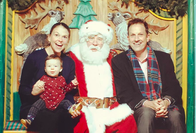 PHOTO: Broadway's Sutton Foster & Daughter Emily Visit Macy's Santaland