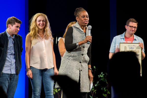Photo Coverage: DEAR EVAN HANSEN Celebrates the Fans with Lottery Performance