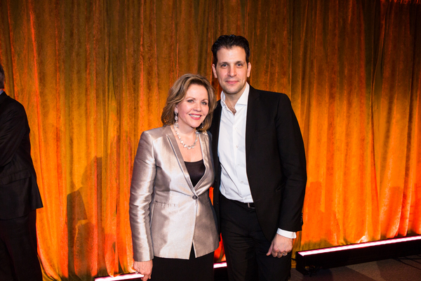 Honoree Renée Fleming with renowned baritone Luca Pisaroni at the 83rd Annual Metropolitan Opera Guild Luncheon at Cipriani 42nd Street on December 7, 2017