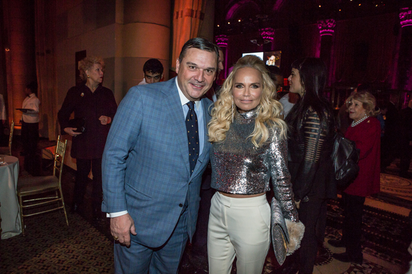 President of the Metropolitan Opera Guild, Richard J. Miller, Jr. with artist Kristin Chenoweth at the 83rd Annual Metropolitan Opera Guild Luncheon at Cipriani 42nd Street on December 7, 2017
