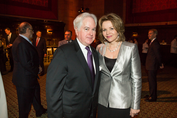 Opera News Editor in Chief, F. Paul Driscoll with honoree Renée Fleming at the 83rd Annual Metropolitan Opera Guild Luncheon at Cipriani 42nd Street on December 7, 2017