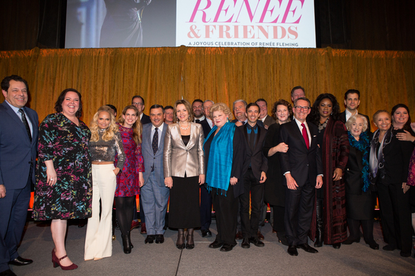 Honoree Renée Fleming with esteemed colleagues and friends at the 83rd Annual Metropolitan Opera Guild Luncheon at Cipriani 42nd Street on December 7, 2017