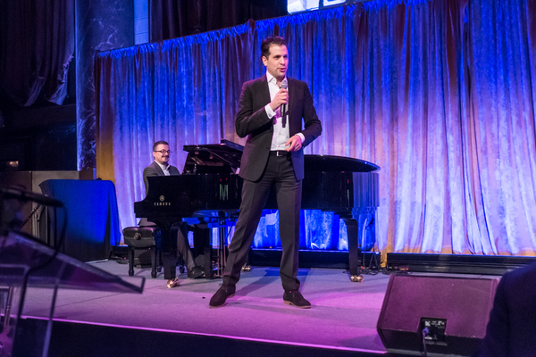 Renowned baritone Luca Pisaroni performing at the 83rd Annual Metropolitan Opera Guild Luncheon at Cipriani 42nd Street on December 7, 2017