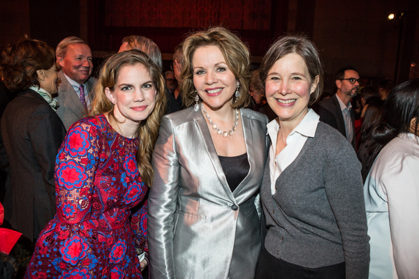 Artist Anna Chlumsky with honoree Renee Fleming and author Ann Patchett