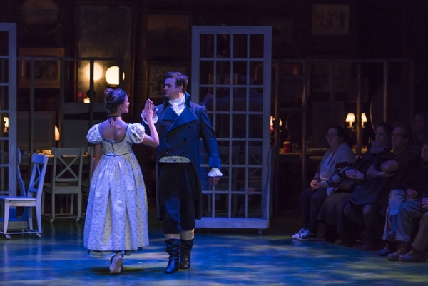 Maggie Adams McDowell (Elinor Dashwood) and Jamie Smithson (Edward/Robert Ferrars)  Photo