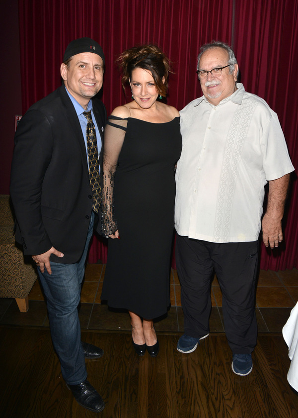 Producer Chris Isaacson, Joely Fisher and Production Manager Ronn Goswick Photo