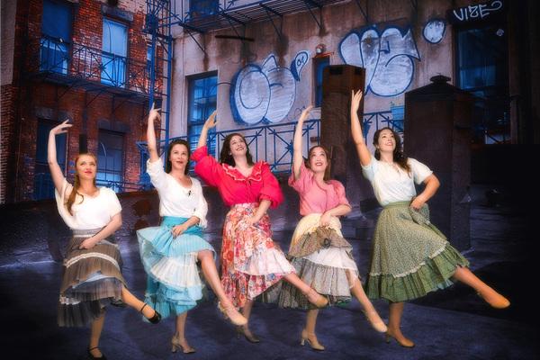 "From left, Kate Bilenko, Lindsey Jordon of Edison, Lorraine C. Perri, Jenna Zielinski, and Nicole Farina-Machin. PinnWorth Productions' ""West Side Story�"