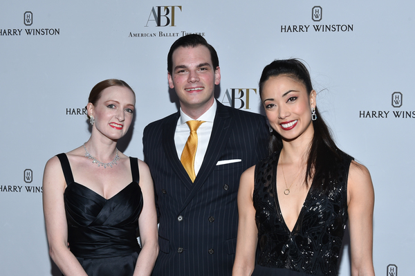Michael Cavallaro, Harry Winton Beverly Hills Salon Manager (center) is flanked by ABT Principal Dancers Gillian Murphy (left) and Stella Abrera (right)