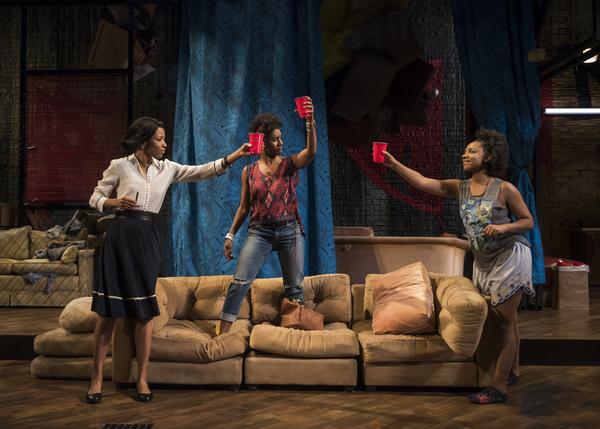Leea Ayes (June), Celeste M. Cooper (Imani) and Nora Carroll (Octavia)