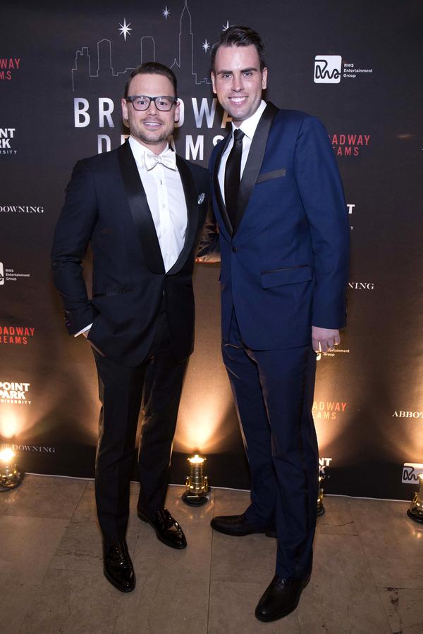 Broadway Dreams Supper Event Chairs Adam Sansiveri of AllianceBernstein and Ryan Stan Photo