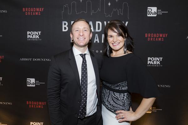 Craig Burns and Broadway Dreams board member Marjorie Wynn