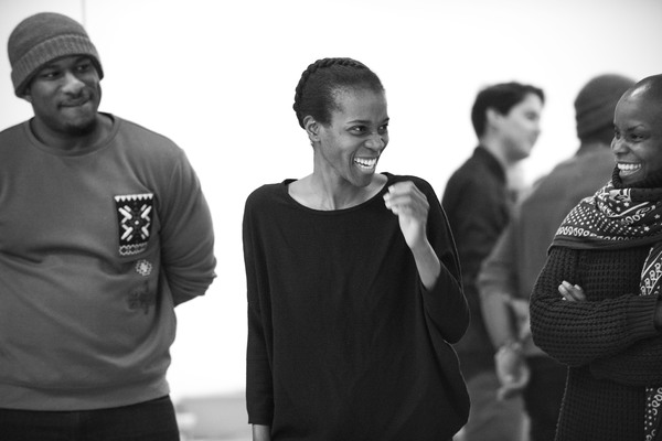 Segun Akande, Awoye Timpo (director) & Hope Boykin (movement director)