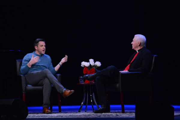 Raul Esparza and Fr. Edward L. Beck, C.P.