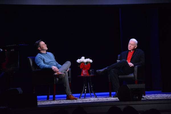 Raul Esparza and Fr. Edward L. Beck, C.P. Photo