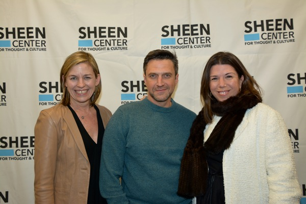 Laura Moore Brown, Raul Esparza and Stellene Valances (Editor in Chief of Town and County Magazine)