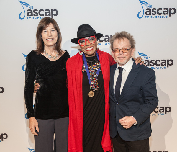 ASCAP Foundation Executive Director Colleen McDonough, Dee Dee Bridgewater, and ASCAP Foundation President Paul Williams