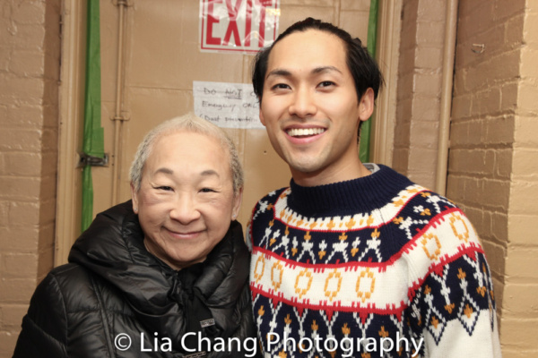 Lori Tan Chinn from Orange is the New Black and Jin Ha. Ms. Chinn appeared in the 1988 production of M. Butterfly.