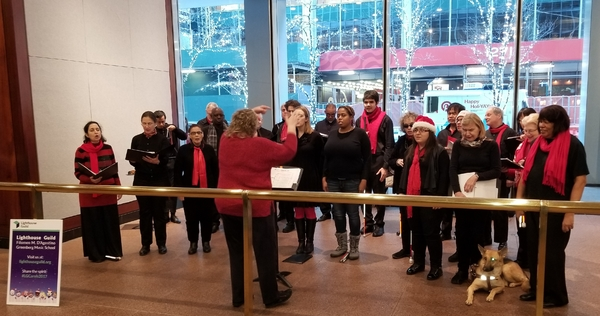 Lighthouse Guild's Vocal Ensemble Spreads Holiday Cheer During One-Day Caroling Tour In Manhattan