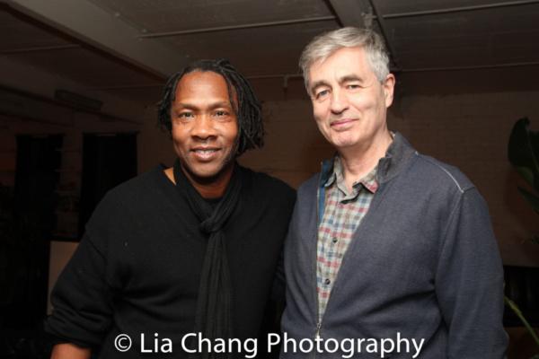 Award-winning filmmakers Roger Ross Williams and Steve James Photo