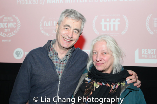 Director Steve James and courtroom artist Christine Cornell Photo