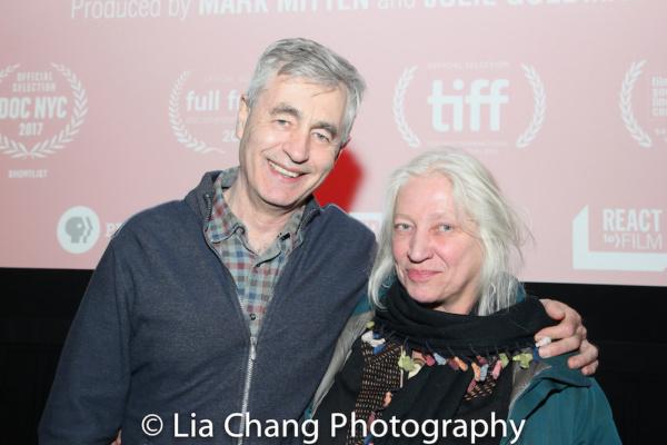 Director Steve James and courtroom artist Christine Cornell