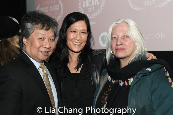Chinatown activist Don Lee, Vera Sung and courtroom artist Christine Cornell