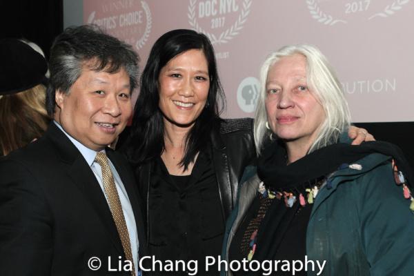 Chinatown activist Don Lee, Vera Sung and courtroom artist Christine Cornell