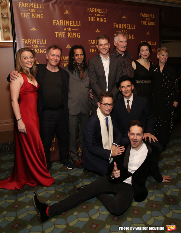 Front: Sam Crane, Iestyn Davies, Mark Rylance Back: Margot White, Colin Hurley, Huss Garbiya, Lucas Hall, Edward Peel, Melody Grove and Claire Van Kampen