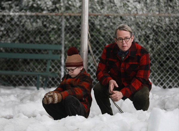 A CHRISTMAS STORY LIVE!: Cast members Andy Walken and Matthew Broderick  during FOX's live musical event, A CHRISTMAS STORY LIVE!, airing Sunday, Dec. 17 (7:00-10:00 PM ET live/PT tape-delayed) on FOX. CR: Jordin Althaus/ FOX