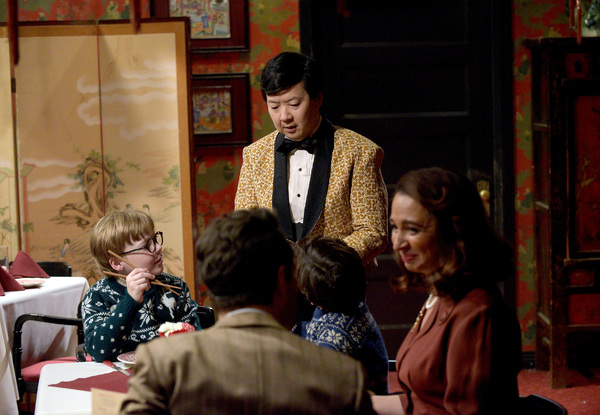 A CHRISTMAS STORY LIVE!:  L-R: Andy Walken, Ken Jeong, Tyler Wladis, Maya Rudolph and Chris Diamantopulus at FOX's live musical event, A CHRISTMAS STORY LIVE!, airing Sunday, Dec. 17 (7:00-10:00 PM ET live/PT tape-delayed) on FOX. CR: Ray Mickshaw / FOX