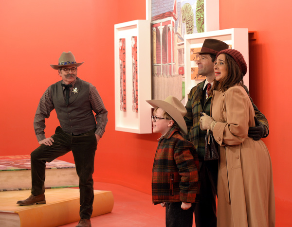 A CHRISTMAS STORY LIVE!: L-R: Cast members Matthew Broderick , Andy Walken, Chris Diamantopoulos and Maya Rudolph at rehearsals for FOX's live musical event, A CHRISTMAS STORY LIVE!, airing Sunday, Dec. 17 (7:00-10:00 PM ET live/PT tape-delayed) on FOX.