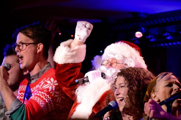 Jordan Stanley, Santa Claus AKA Jason SweetTooth Williams and Brooke Shapiro Photo