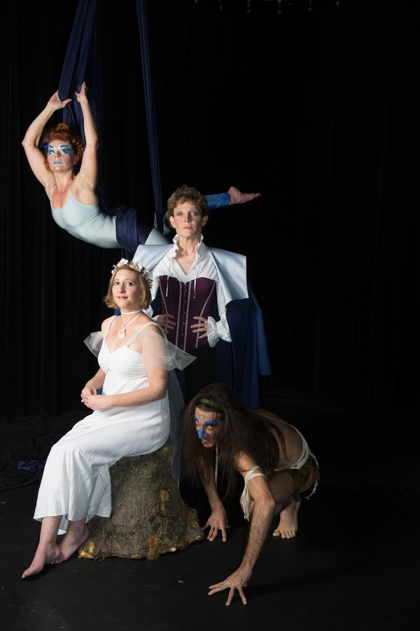 Top to bottom: Katrina Stevenson (Ariel), Roxanne Fay (Prospero), Emily Belvo (Miranda), and Giles Davies (Caliban). Jobsite Theater's production of The Tempest, playing the Straz Center in downtown Tampa Jan. 17 - Feb 11, 2018. Photos by Pritchard Photog