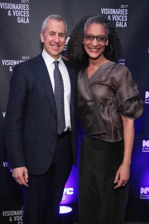 NEW YORK, NY - DECEMBER 18:  Danny Meyer and Carla Hall attend the  NYC & Company Foundation Visionaries & Voices Gala 2017 on December 18, 2017 in New York City.  (Photo by Cindy Ord/Getty Images for NY & Company)