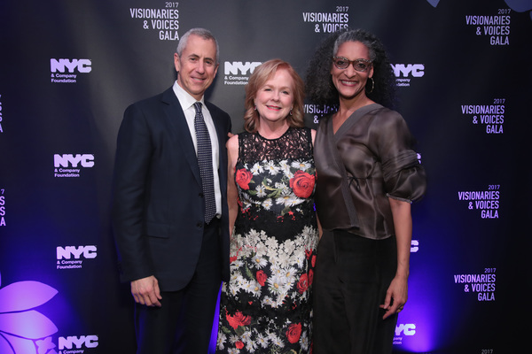 NEW YORK, NY - DECEMBER 18:  Danny Meyer of Union Sq. Hospitality Group, Susan Ungaro of James Beard Foundation, and Carla Hall attend the  NYC & Company Foundation Visionaries & Voices Gala 2017 on December 18, 2017 in New York City.  (Photo by Cindy Ord