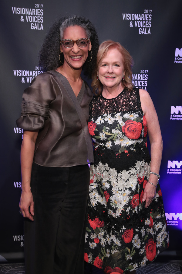 NEW YORK, NY - DECEMBER 18:  Carla Hall and Susan Ungaro of James Beard Foundation attend the NYC & Company Foundation Visionaries & Voices Gala 2017 on December 18, 2017 in New York City.  (Photo by Cindy Ord/Getty Images for NY & Company)