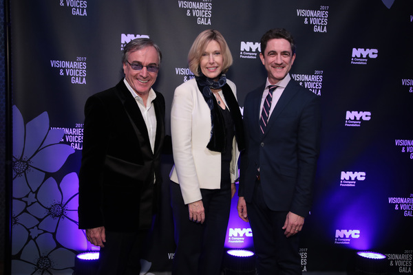 NEW YORK, NY - DECEMBER 18:  Daniel Lamarre, CEO of Cirque du Soleil, Dawn Hudson of the NFL, and Danny Boockvar of NFL Experience, attend the NYC & Company Foundation Visionaries & Voices Gala 2017 on December 18, 2017 in New York City.  (Photo by Cindy